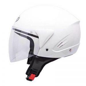 mt ventus open face jet motorbike helmet white