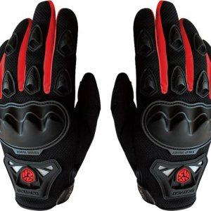 mc29 scoyco motorbike gloves red