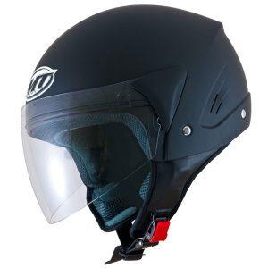 mt ventus jet open face motorbike helmet matt black